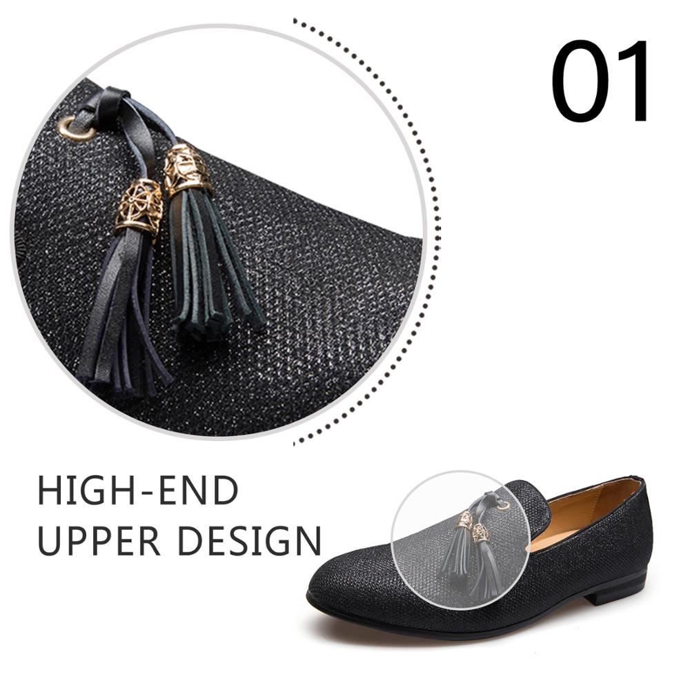 Handmade Metal fashion gold Tassel of Loafers Red Bottom Loafers Gentleman Luxury Fashion Stress Shoes Men Brand Men Shoes