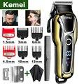 Машинка для стрижки волос Kemei, профессиональный триммер с ЖК-дисплеем, машинка для парикмахера, 5