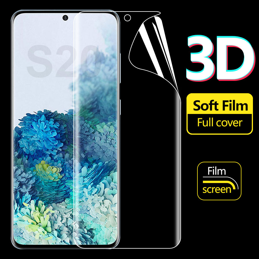 Silicone TPU Film Hydrogel Sticker For Samsung Galaxy S20 Ultra 5G S20+ S20 Note 10 A8 PLUS A7 2018 Full Cover Screen Protector
