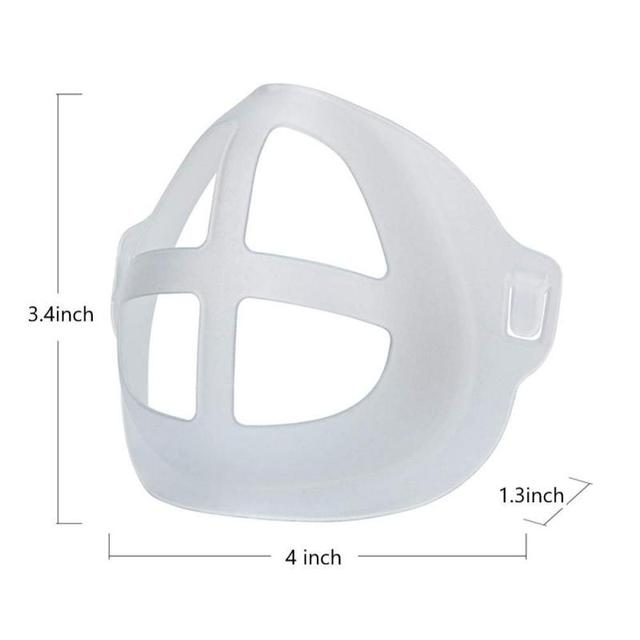 5pcs Breathable Lipstick Stand Breathable Breathing Space Increase Nose 3D Mask Bracket 5