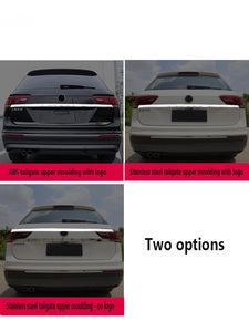 For VW Tiguan L Chrome Rear Trunk Tailgate 2018 2019 Door Handle Cover Tail Gate Light Lamp Trim Bezel Molding Garnish