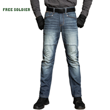 Pants Free-Soldier Jeans Trousers Stretch Wear-Resistant Loose Outdoor Winter Straight