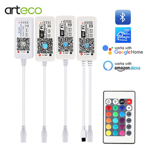 5V 12V 24V LED Strip Bluetooth / WIFI RGB / RGBW / RGBWW Controller Android IOS APP Amazon Alexa Google Magic Home IR Control(China)