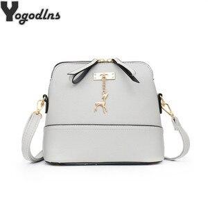 New Women Messenger Bags Vintage Small Shell Leather Handbag Casual Bag Handbag Women Bags Handbags Women Famous Brands