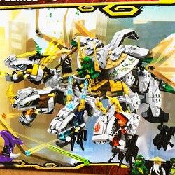 1100pcs new 2020 Ninja The Ultra Dragon Building Blocks Compatible 70679 Ninjagoes Dragon Bricks Toys for Children Gift 31186