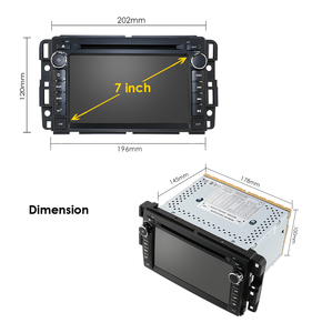 Image 5 - 2Din androidのカーラジオautoradioカーdvdプレーヤーgmcシボレーシボレーユーコンtahoeシエラアカディア郊外マルチメディアcarmonitor
