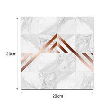 20*20cm Geometric Metal Texture Line Tile Stickers Waterproof Wear-Resistant Marble Light Floor Matte New