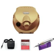 35000Rpm Pro Elektrische Nagel Boormachine Voor Manicure Pedicure Accessoire Kit Anti Brandende Cover Handvat Met 6 Nail boor