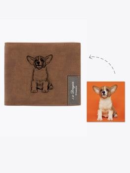 Personalized Pet Photo Men's Wallet , Custom Photo Wallet, Personalized Photo Wallet, Custom Wallet ,Personalized Wallet фото