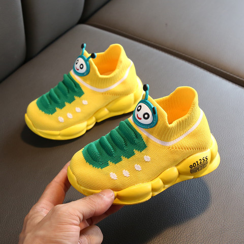 Baby Running Sneakers Unisex Girls Boys Sport Stretch Mesh Shoes Cartoon Infant Kids Fashion Comfort tenis infantil menino Lahore