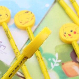 Image 4 - 48pcs/pack 0.5mm Black Ink Cartoon Creative Gel Pen Unisex Rollerball Pen Sign Pen Office School Stationery