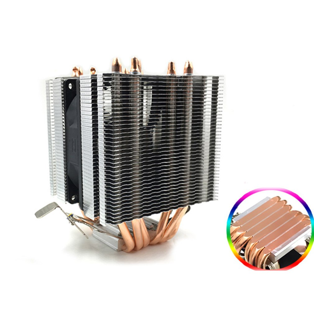 Avc Pure Copper 6 Heat Pipe Cpu Heat Sink Amd 1155 1156 Desktop Computer Cpu Fan Cpu Cooler Heat Sink