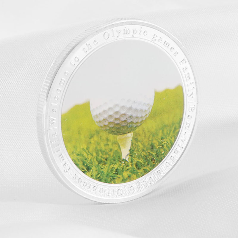 Brazil Rio De Janeiro Olympic Games Silver Plate Golf White Ball Collection Coin H4GD