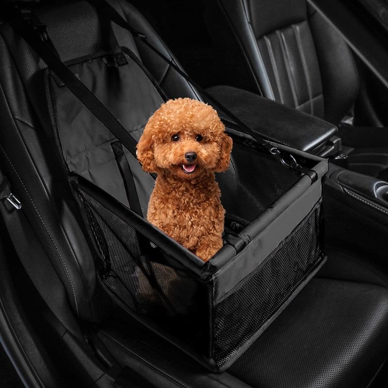 Дорожный Чехол для на автомобильное сиденье для перевозки собак кошек Складная Обувь с дышащей сеткой безопасный гамак для домашних животн...