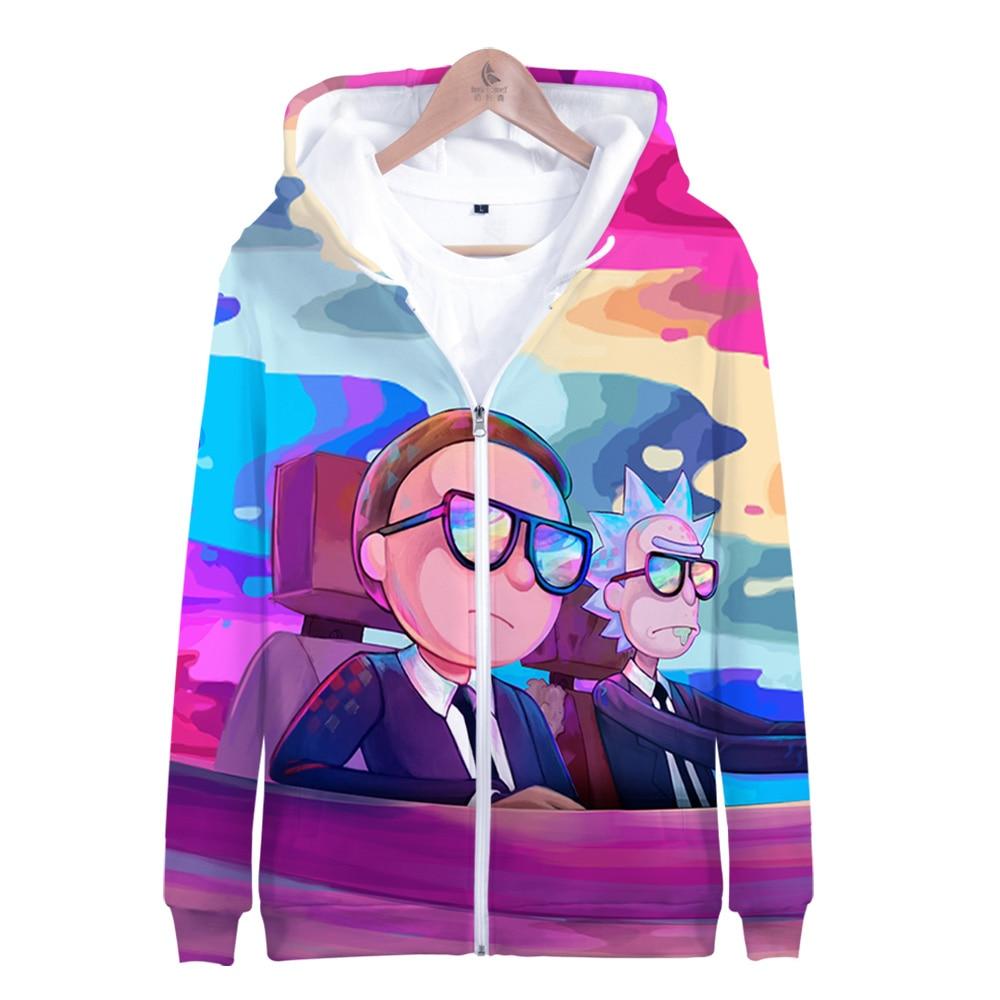 2019 Hot Sale Rick And Morty Zipper Hoodies 3D Hoodie Sweatshirt Women Harajuku Hoodies Men Plus Size For Men Streetwear