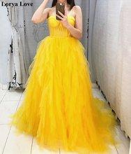 Золотистое длинное платье трапеция для выпускного вечера 2021