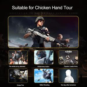Image 5 - AK77 PUBG Controller Helper Mobile Phone Radiator Six Fingers Linkage Game Button Physical Compression Quick Shooting Handle