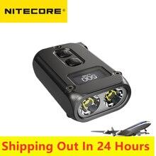 Nitecore-linterna inteligente de 500 lúmenes para el hogar, dispositivo de iluminación inteligente de doble núcleo, tecnología APC de sueño, con carga USB tipo-c, Larga modo de reposo OLED