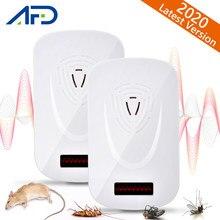 Répulsif antiparasitaire à ultrasons, 2 pièces, tueur de moustiques, souris, cafard, Rats, araignées, contrôle antiparasitaire, maison, jardin