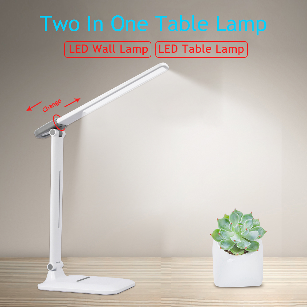 Foldable LED Table Lamp Rechargeable USB Powered 3 Color 3 Dimming Desk Lamp Bedroom Reading Eye Protection Table Night Light