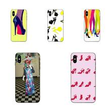 Diseño de funda para teléfono móvil para Apple iPhone 4 4S 5 5S SE 6 6S 7 8 Plus X XS Max XR tacones altos Sexy zapatos(China)