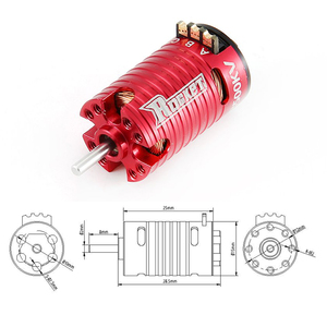 Image 3 - Mini 1410 2500KV 3500KV 5500KV 7500KV Motor 18A ESC için Kyosho Mr03 Pro atomik DRZ 1/24 1/28 1/32 RC Mini Z Drift araba
