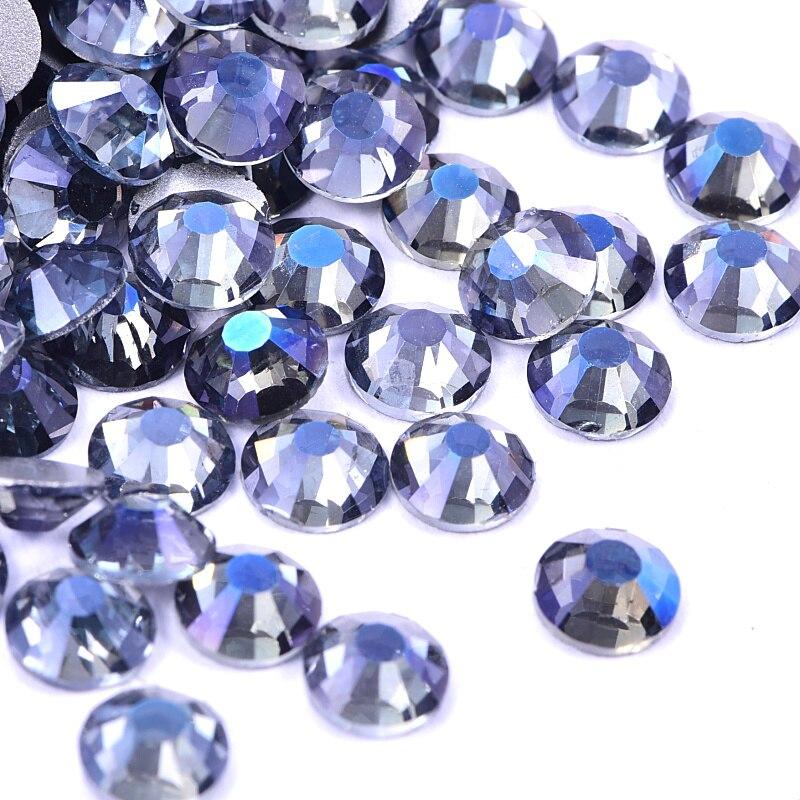Новый цвет! SS3-SS30, голубой оттенок, для дизайна ногтей, стразы, Flatback Glass Strass, Блестящий горный хрусталь для украшения ногтей H0934