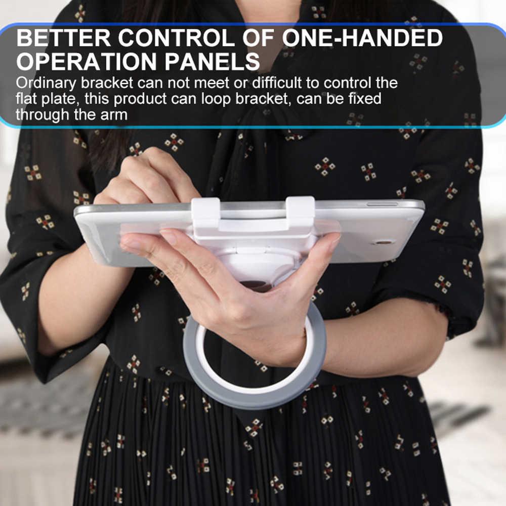 7-10 inch Tablet Stand Houder Stretchable beugel voor ipad Tablet telefoon 360 graden rotatie desktop Houder Handvat ring ondersteuning