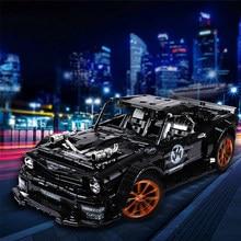 3168 adet RC çatallı Mustanged Hoonicorn RTR V2 modeli yapı taşı MOC-22970 araba yarışı tuğla çocuk oyuncakları çocuklar hediyeler