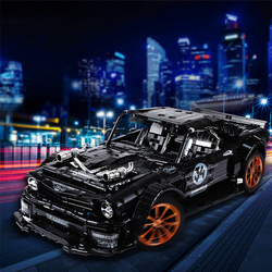 3168pcs RC Forded Mustanged Hoonicorn RTR V2 Model Building Block MOC-22970 Racing Car Bricks Children Toys Kids Gifts