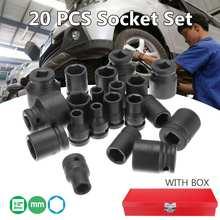 1/2 inch 8-32mm Impact Socket Set 20 Pcs Universals Socket M