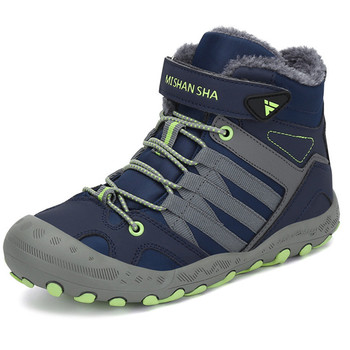 Botas de invierno para niños zapatos de cuero para niños zapatos de nieve para niños botas planas botines para niñas bota infantil neve