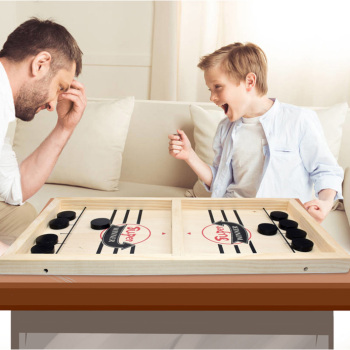 Wooden Slingpuck Game Fast Hockey Sling Puck Game Paced Slingpuck Board Game Parent-child Interactive Toys Montessori Table Game недорого