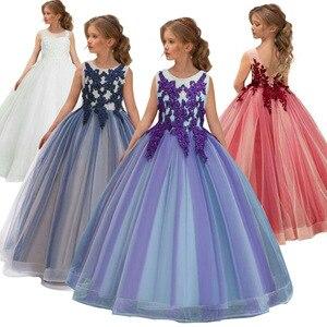 Image 2 - Girls Wedding Kids Dresses For Girl Party Dress Lace Princess Summer Teenage Children Princess Bridesmaid Dress 8 10 12 14 Years