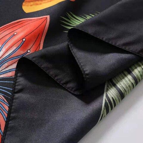 Luxury Brand 2020 New Design Palm Tree Spring Square Scarf 130cm Twill Silk Scarf Women Kerchief Scarves For Ladies Shawl Karachi