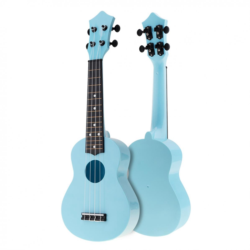 21 Inch Acoustic Ukulele Uke 4 Strings Hawaii Guitar Guitar Instrument For Kids And Music Beginner Blue