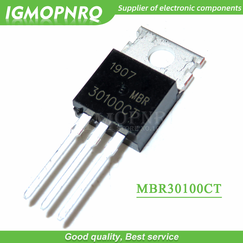 10pcs MBR30100CT 30100CT MBR30100 Schottky  & Rectifiers 30A 100V TO-220  New Original