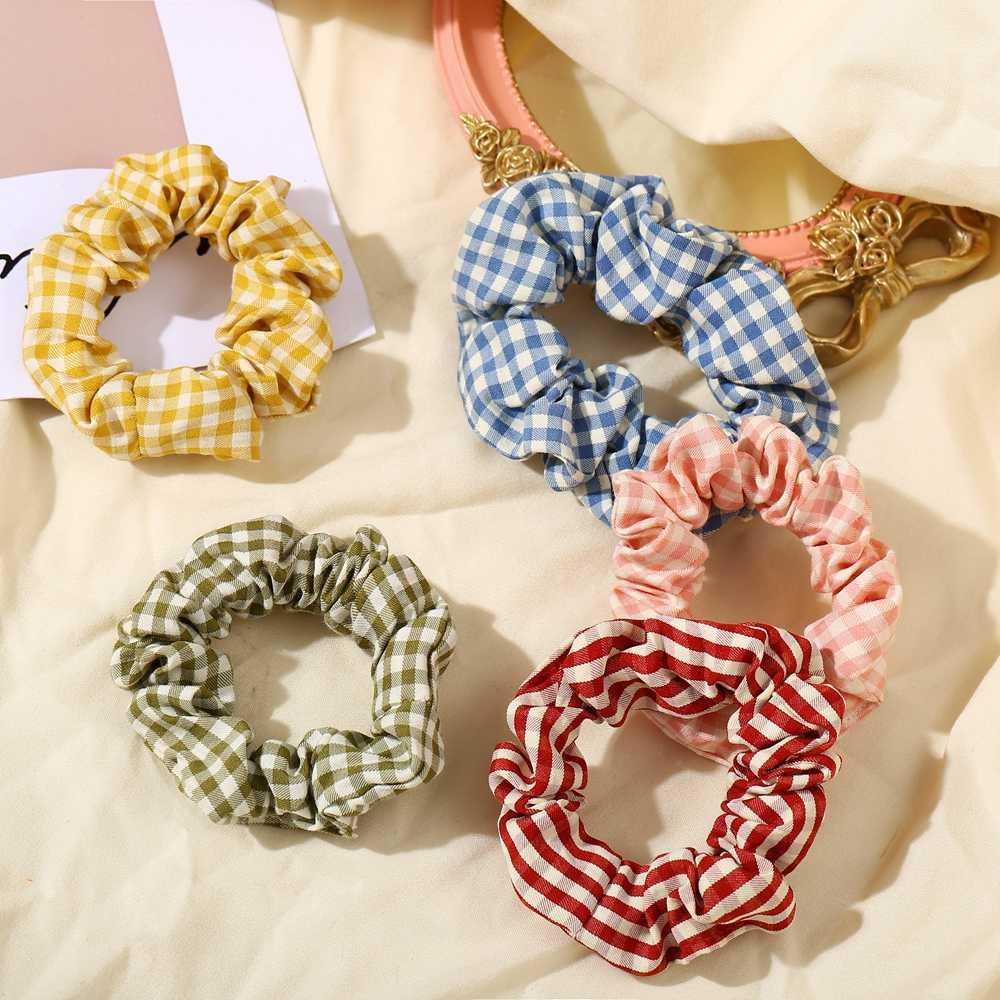 Summer Scrunchies Elastic Hair Bands Women Girls Ponytail Holder Hair Ties Rope