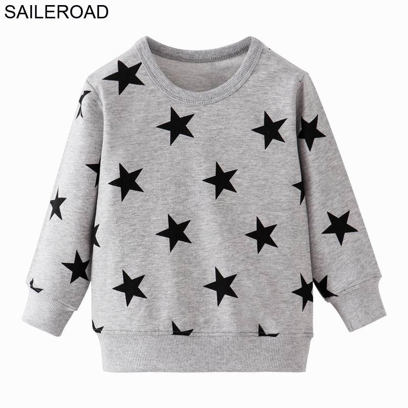 SAILEROAD Fashion Stars Kids Hoodie Baby Hoodies Girls Kids Sweatshirt Boy Long Sleeve T-shirt Tops Sport Shirt Sweater 1