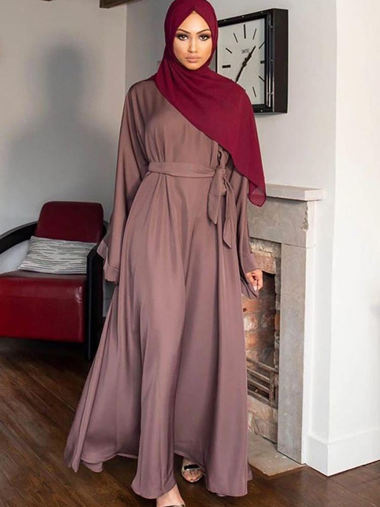 Hijab Dress Clothing-Dresses Robe Abaya Kaftan Turkey Dubai Arabic Oman Islam Musulman-De-Mode