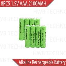 8pack Nova Marca AAA 2100mah 1.5V Bateria Alcalina AAA bateria recarregável para o Brinquedo de Controle Remoto luz Batery frete grátis