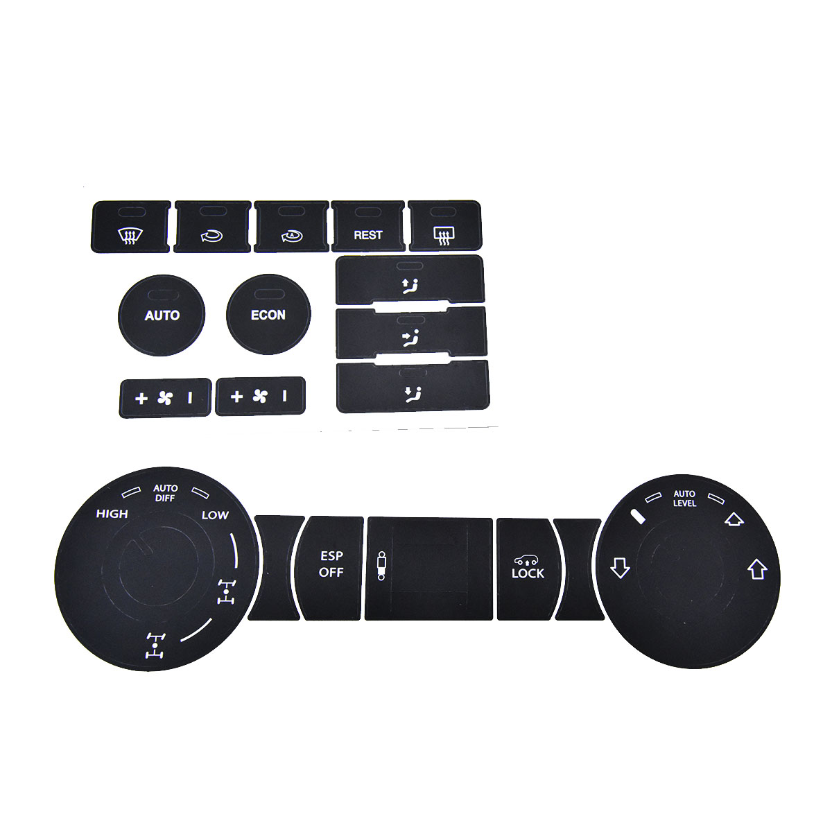 Image 4 - 8pcs for VW Steering Wheel Windows Headlight Climate Switch Car Stickers For Volkswagen Touareg 04 09 FWorn Button Repair Decals-in Car Stickers from Automobiles & Motorcycles