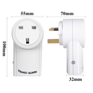 Image 2 - Evrensel İngiltere tipi priz fiş RF 433mhz kablosuz uzaktan kumanda ışık anahtarı akıllı ev otomasyon uyumlu Broadlink RM4 Pro