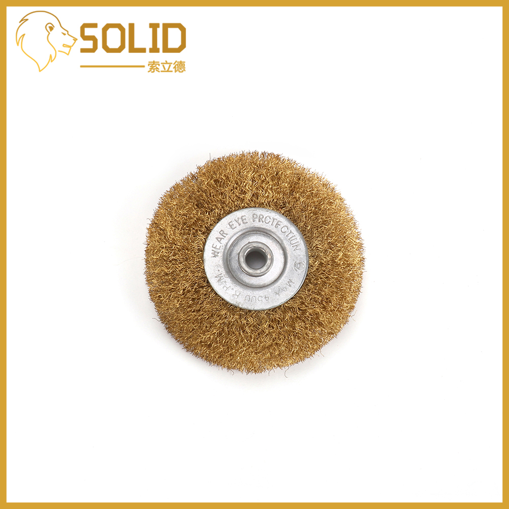 Brass Wire Wheel 150/200/250mm Flat Type Brass Steel Wire Brush For Power Dremel Rotary Tools Polishing