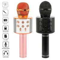 K-Song Bluetooth Drahtlose Mikrofon Lautsprecher Professionelle Handheld Karaok Mic Musik Player Singen Recorder KTV Mic