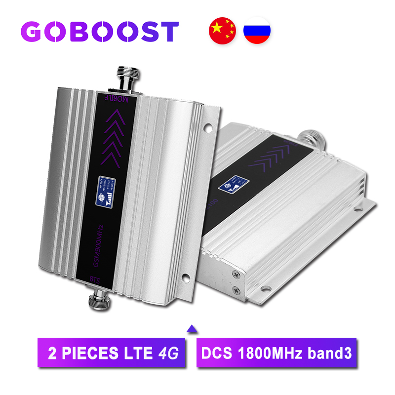 2PCS 4G Amplifier GSM Repeater 1800 MHz DCS 4G Cell Amplifier Mobile Phone Cellular Signal Repeater Band3 GSM Booster 4G Mobile