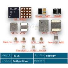 5 סטים\חבילה תאורה אחורית לתקן ערכת עבור iPhone 6S ic U4020 + סליל L4020 + L4021 + דיודה D4020 + d4021 + קבלים C4022 C4023 C4021 + מסנן
