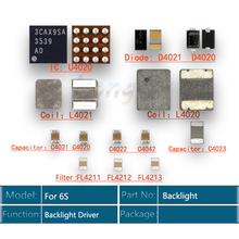 5sets/lot backlight fix kit for iPhone 6S ic U4020 +Coil L4020 + L4021 +Diode D4020 + D4021 +Capacitor C4022 C4023 C4021 +Filter