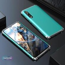 สำหรับHuawei P30 ProกรณีTPUเกราะกันกระแทกกรอบโลหะหรูหราสำหรับHuawei Honor 30 Pro Mate30 20 Pro