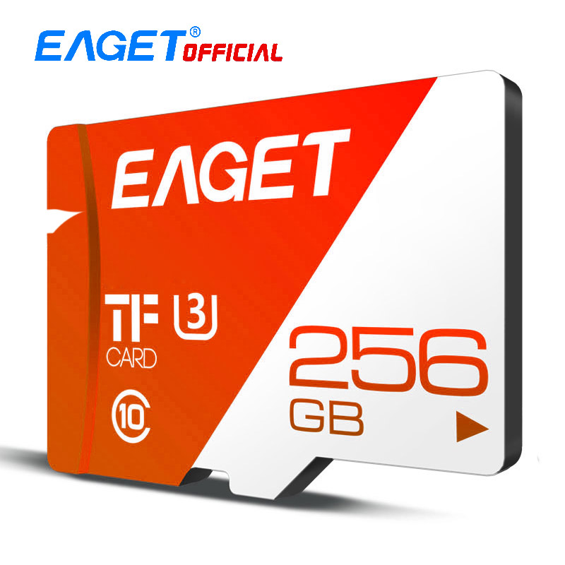 EAGET T1 Micro SD Card 16GB/32GB/64GB/128GB/256GB Class 10 TF Card Memory Card  High Speed Flash For Phones Tablet